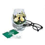 Цветы ручной работы. Ярмарка Мастеров - ручная работа Стабилизированные цветы в стекле — Весна. Handmade.