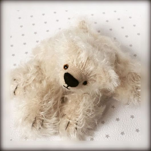 Мишки Тедди ручной работы. Ярмарка Мастеров - ручная работа. Купить Йон. Белый мишка.. Handmade. Тедди, мишка в подарок