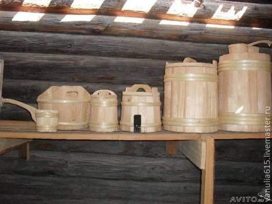 Кухня ручной работы. Ярмарка Мастеров - ручная работа. Купить кадки из сибирского кедра от 3  до 500 литров. Handmade. Бежевый