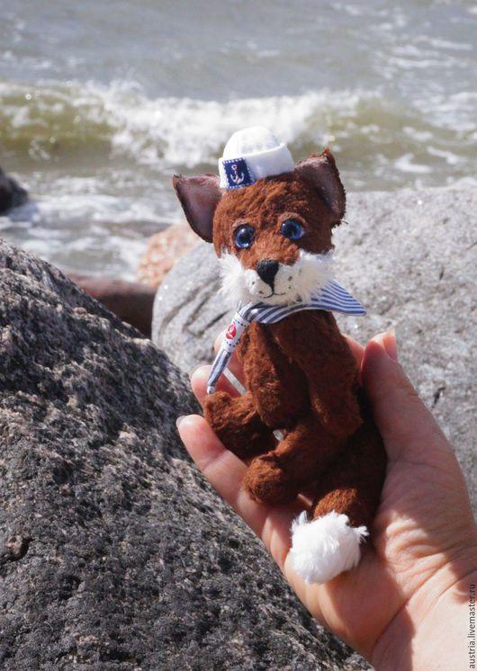 Мишки Тедди ручной работы. Ярмарка Мастеров - ручная работа. Купить Морской лис. Handmade. Коричневый, тедди в подарок, шерсть