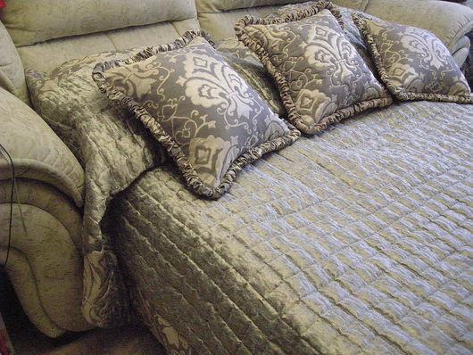 """Текстиль, ковры ручной работы. Ярмарка Мастеров - ручная работа. Купить Покрывало """"Effecta Delta"""". Handmade. Покрывало, серебро, лён"""