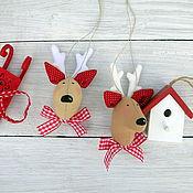 Куклы и игрушки ручной работы. Ярмарка Мастеров - ручная работа Текстильные игрушки на елку. Handmade.