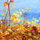 Oil painting with autumn landscape. Picture with autumn. Autumn landscape. Pictures. Zabaikalie. My Livemaster. Фото №6