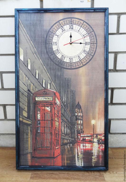 """Часы для дома ручной работы. Ярмарка Мастеров - ручная работа. Купить Часы """"Лондон"""". Handmade. Коричневый, в подарок, бесшумный механизм"""