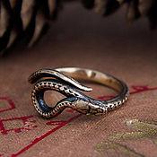 Украшения handmade. Livemaster - original item Ring snake. Ring with a snake. Snake Ring. bronze silver.. Handmade.