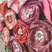 """Картины и панно ручной работы. Ярмарка Мастеров - ручная работа """"Ранункулюсы"""" Интерьерная картина. Handmade."""