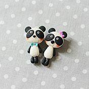 """Украшения ручной работы. Ярмарка Мастеров - ручная работа Брошь """"Милашка панда"""". Handmade."""