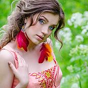 """Одежда ручной работы. Ярмарка Мастеров - ручная работа Льняное платье """"Розовый рассвет"""". Handmade."""
