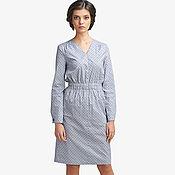 Одежда ручной работы. Ярмарка Мастеров - ручная работа Платье летнее из тонкого хлопка стального цвета. Handmade.