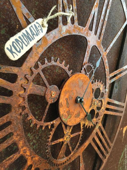 """Часы для дома ручной работы. Ярмарка Мастеров - ручная работа. Купить Часы 50см с ржавчиной """"Kaiku-rooste"""". Handmade."""