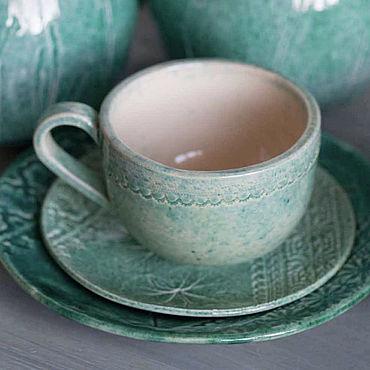 Посуда ручной работы. Ярмарка Мастеров - ручная работа Набор посуды Луга. Handmade.