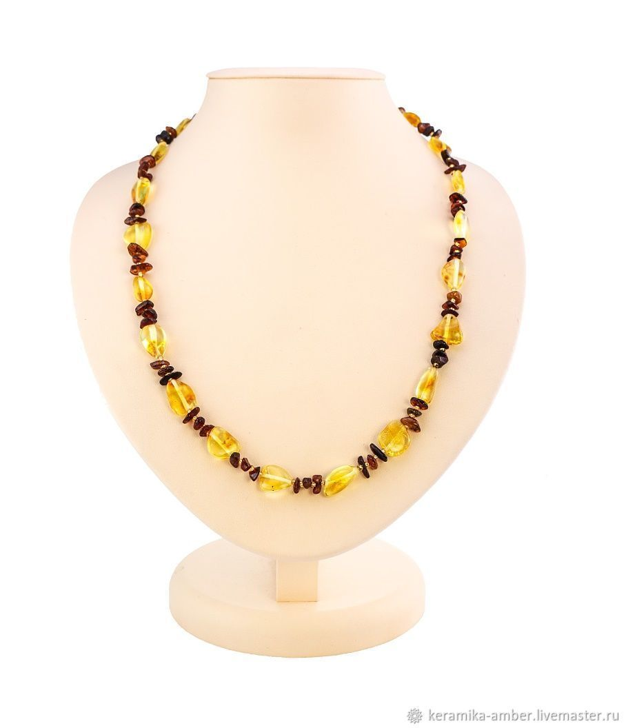 Necklaces & Beads handmade. Livemaster - handmade. Buy Amber beads Classic for women girls yellow honey cognac color.