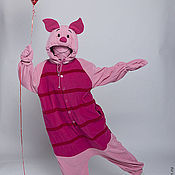 """Дизайн и реклама ручной работы. Ярмарка Мастеров - ручная работа Кигуруми костюм """"Пятачок"""" (из м/ф про Винни Пуха) с объемным капюшоном. Handmade."""