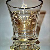 Винтаж handmade. Livemaster - original item Rare!!! Cup Judaica star of David 19th century. Handmade.
