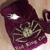 Одежда ручной работы. Ярмарка Мастеров - ручная работа Халат велюр-махровый с вышивкой. Handmade.
