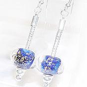 Украшения handmade. Livemaster - original item Blue sea earrings lampwork. Handmade.