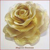 Русский стиль ручной работы. Ярмарка Мастеров - ручная работа брошь роза из ткани. Handmade.