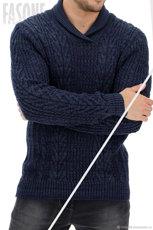 """Мужской свитер """"Кобальт"""" Подарок мужчине, Свитеры, Прага,  Фото №1"""
