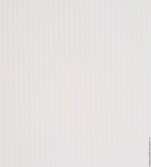 Шитье ручной работы. Ярмарка Мастеров - ручная работа. Купить Немецкий хлопок нежно-розовая полоска. Handmade. Бледно-розовый