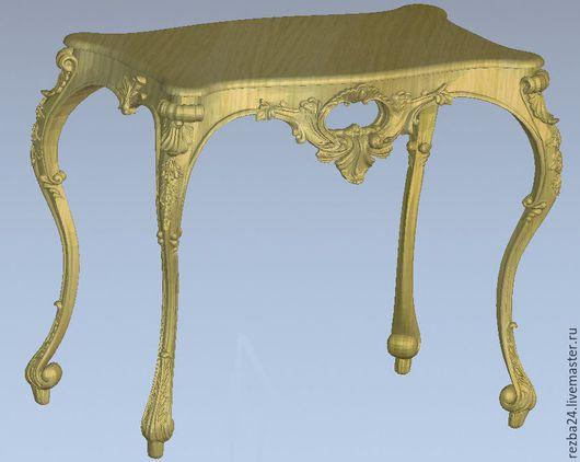 Мебель ручной работы. Ярмарка Мастеров - ручная работа. Купить Стол резной. Handmade. Бежевый, резная мебель, стул, комод