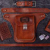 Сумки и аксессуары handmade. Livemaster - original item Biker hip bag Model 2 no . Handmade.