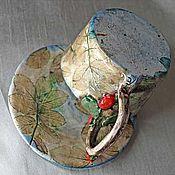 """Посуда ручной работы. Ярмарка Мастеров - ручная работа Чайная пара """"Шиповник"""". Handmade."""