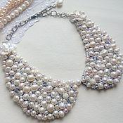 """Аксессуары handmade. Livemaster - original item Necklace collar """"My pearl"""". Handmade."""