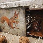 Для дома и интерьера handmade. Livemaster - original item Squirrel-2 - boxes for sweets and nuts. Handmade.