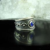 Украшения handmade. Livemaster - original item 925 sterling silver ring with ethnic pattern and agate. Handmade.