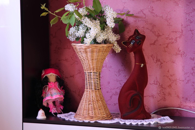 Плетёная декоративная ваза, Вазы, Абакан, Фото №1