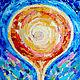 """Абстракция ручной работы. Ярмарка Мастеров - ручная работа. Купить Картина """"Солнечный поток"""" энергетическая абстракция. Handmade. Картина"""