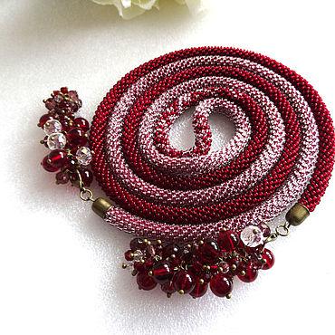 Decorations handmade. Livemaster - original item Lariat necklace harness beaded