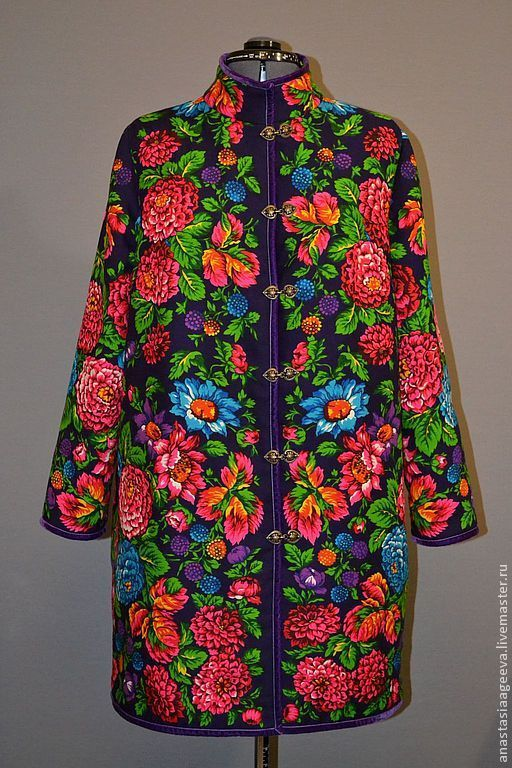"""Верхняя одежда ручной работы. Ярмарка Мастеров - ручная работа. Купить Пальто из платка """"Ежевика""""-2.. Handmade. Одежда из платков"""