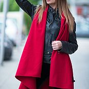 Одежда handmade. Livemaster - original item Red cashmere sleeveless vest-VE0041WL. Handmade.