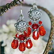 Украшения handmade. Livemaster - original item Long red earrings.. Handmade.