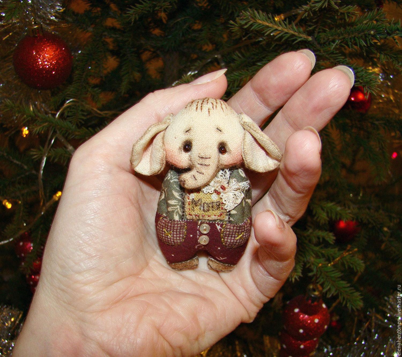 Слоник Мотя (брошка), Игрушки животные, Губкинский, Фото №1
