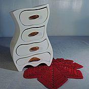 Для дома и интерьера ручной работы. Ярмарка Мастеров - ручная работа Комодик белый. Handmade.
