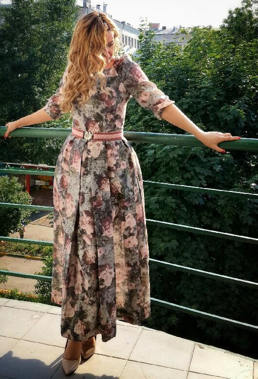 Платья ручной работы. Ярмарка Мастеров - ручная работа. Купить Платье длинное с цветочным принтом. Handmade. Платье нарядное