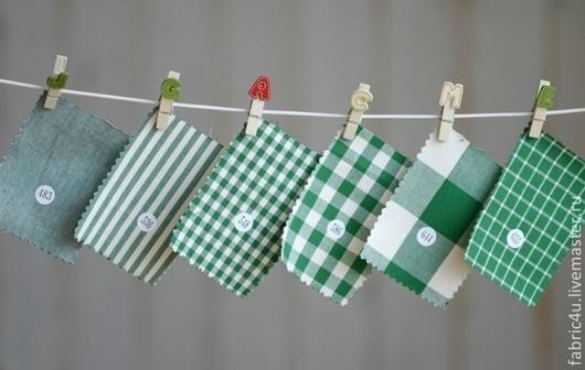 Шитье ручной работы. Ярмарка Мастеров - ручная работа. Купить Набор хлопковых тканей. Зеленый. Handmade. Набор тканей, зеленый
