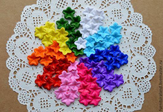Для украшений ручной работы. Ярмарка Мастеров - ручная работа. Купить Цветочки акриловые, разноцветные.. Handmade. Разноцветные бусины, цветочки