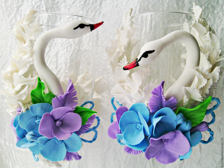 """Свадебные бокалы """"Лебеди 2"""", Бокалы, Тверь, Фото №1"""