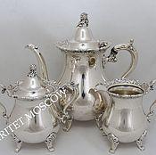 Винтаж ручной работы. Ярмарка Мастеров - ручная работа Сервиз чайник сахарница сливочник серебрение 9. Handmade.