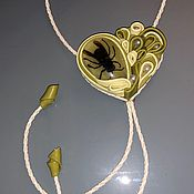 Украшения handmade. Livemaster - original item Bolo tie GADFLY (Leather). Handmade.