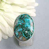 Украшения handmade. Livemaster - original item ring with chrysocolla. silver.. Handmade.