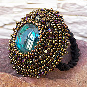 Украшения handmade. Livemaster - original item Elastic hair band beads embroidery 2. Handmade.