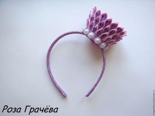 Детская бижутерия ручной работы. Ярмарка Мастеров - ручная работа. Купить Корона, корона на ободке, ободок для волос. Handmade. Фиолетовый