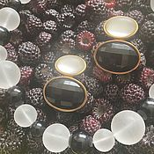Винтаж handmade. Livemaster - original item Frosty berry. Earrings and a necklace. the 1980s. USA.. Handmade.