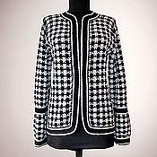 Одежда handmade. Livemaster - original item Tweed jacket Jemma. Classic women houndstooth crochet tweed jacket. Handmade.