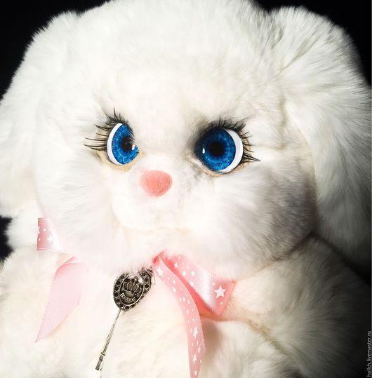 Куклы и игрушки ручной работы. Ярмарка Мастеров - ручная работа. Купить Зайка игрушка из натурального меха. Handmade. Серебряный, рекс