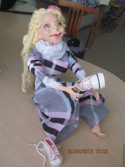 Человечки ручной работы. Ярмарка Мастеров - ручная работа. Купить Кукла Лизаветта. Handmade. Розовый, кукла ручной работы